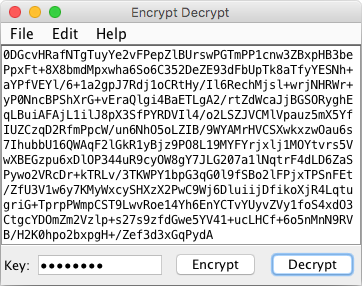 Encrypt Decrypt (Java) - Java application to encrypt/decrypt plain